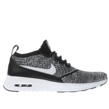 NIKE BLACK & WHITE AIR MAX THEA ULTRA FLYKNIT TRAINERS