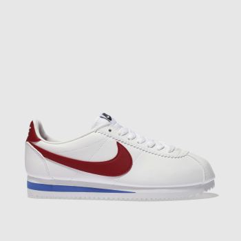 Nike White & Red Cortez Womens Trainers