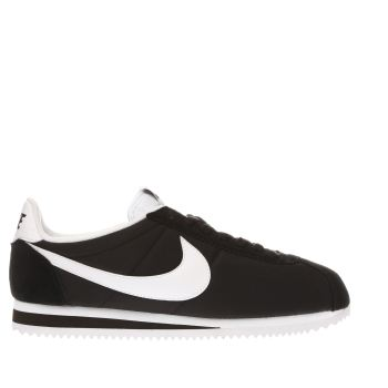 NIKE BLACK & WHITE CORTEZ NYLON TRAINERS