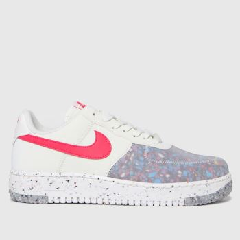 Nike White Air Force 1 Crater Womens Trainers