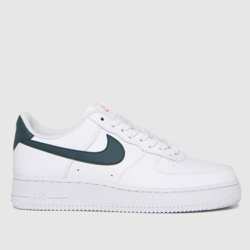 Nike White & Green Air Force 1 '07 Womens Trainers