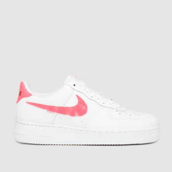 Nike White & Pink Air Force 1 'se Womens Trainers