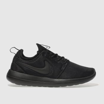 NIKE BLACK ROSHE TWO TRAINERS