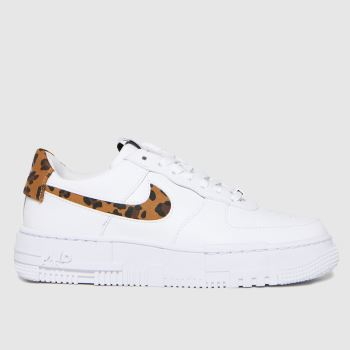 Nike White & Beige Air Force 1 Pixel Se Womens Trainers