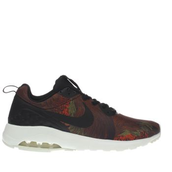 NIKE BLACK & ORANGE AIR MAX MOTION TRAINERS