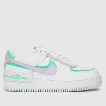 Nike Weiß-Lila Air Force 1 Shadow Damen Sneaker
