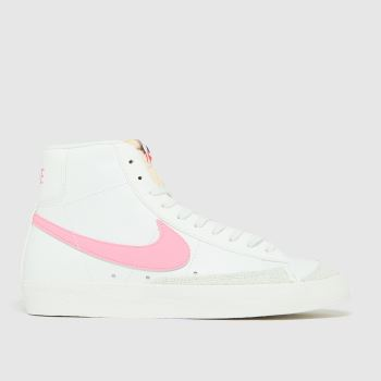 Nike White & Pink Blazer Mid 77 Womens Trainers
