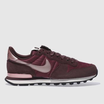 Nike Burgundy INTERNATIONALIST Trainers