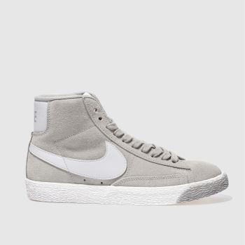 Nike Light Grey BLAZER MID VINTAGE SUEDE Trainers