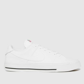 Nike White & Black Court Legacy Womens Trainers
