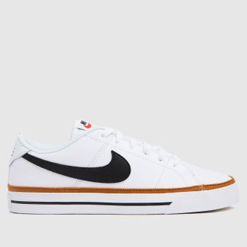 Nike White & Brown Court Legacy Womens Trainers