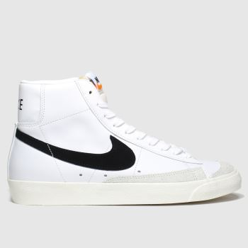 Nike White & Black Blazer Mid 77 c2namevalue::Womens Trainers