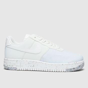 Nike White & Pl Blue Air Force 1 Crater Womens Trainers