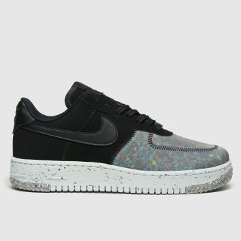 Nike Black & Grey Air Force 1 Crater Womens Trainers#