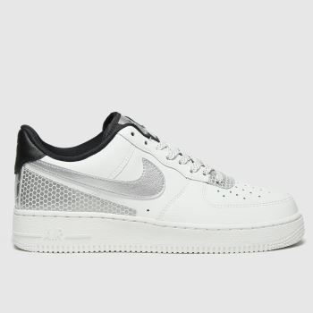 Nike White & Black Air Force 1 07 Se Womens Trainers