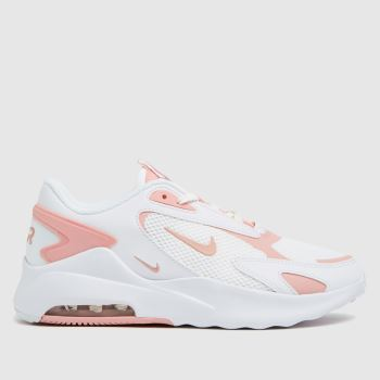 Nike White & Pink Air Max Bolt Womens Trainers