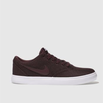 Nike Sb Burgundy Check Solar Canvas Womens Trainers