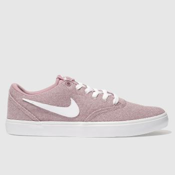 Nike Sb Pink Check Solar Canvas Womens Trainers