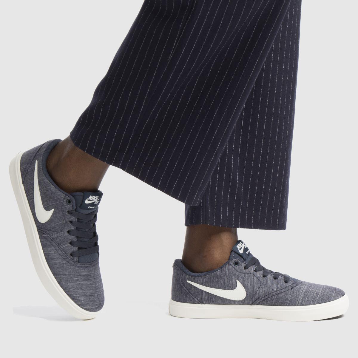 Damen Marineblau-weiß nike sb Check Solarsoft Canvas Sneaker | schuh Gute Qualität beliebte Schuhe