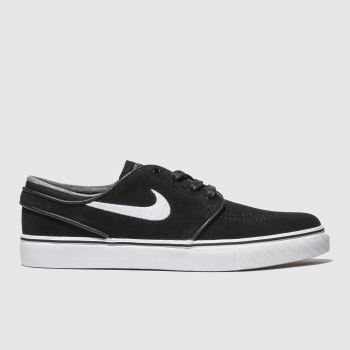 Nike Sb Black & White Stefan Janoski Womens Trainers