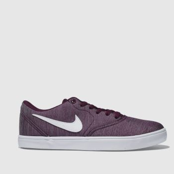 Nike Sb Burgundy CHECK SOLAR CANVAS Trainers