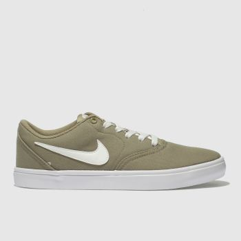 Nike Sb Beige Check Solar Canvas Womens Trainers