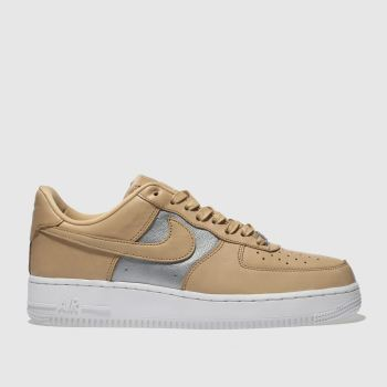 Nike Tan Air Force 1 Low Premium Womens Trainers