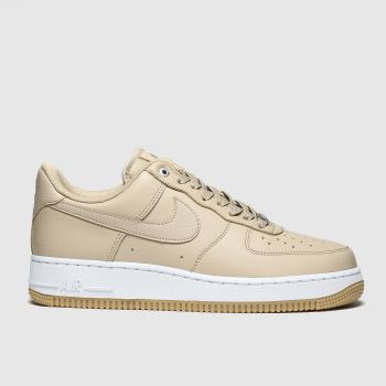 Nike Beige Air Force 1 Low Premium Womens Trainers