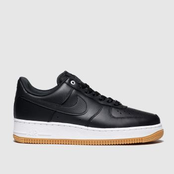 Nike Black & White Air Force 1 Low Premium c2namevalue::Womens Trainers