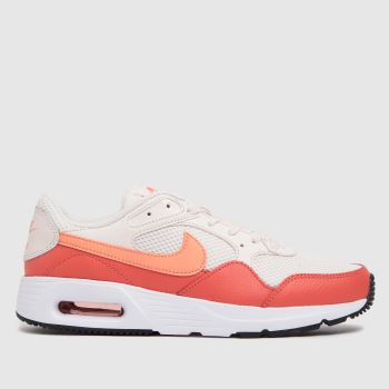 Nike White & Red Air Max Sc Womens Trainers