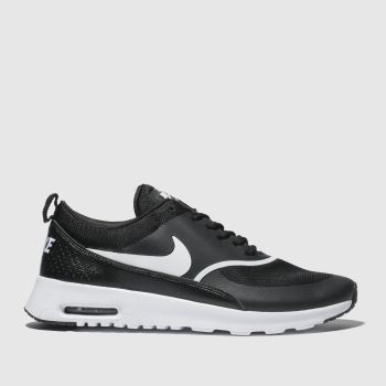 Nike Black & White Air Max Thea c2namevalue::Womens Trainers