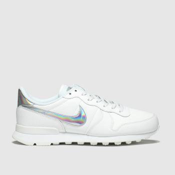 Nike White & Silver Internationalist Womens Trainers