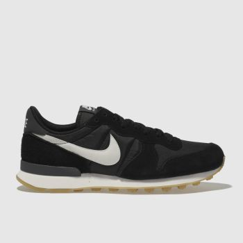 finest selection fddfb 1ae6a Nike Black   White Internationalist Womens Trainers