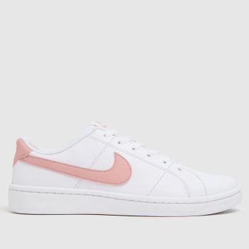 Nike White & Pink Court Royale 2 Womens Trainers