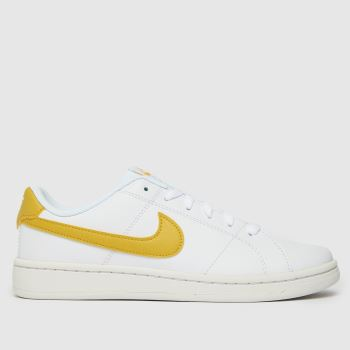 Nike White & Yellow Court Royale 2 Womens Trainers