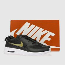 e344a891b1b womens black   gold nike air max thea trainers