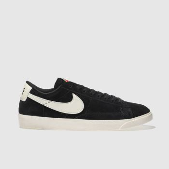 Nike Black & White Blazer Low Suede Womens Trainers