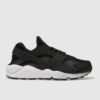 Nike Black & White Huarache Run Womens Trainers