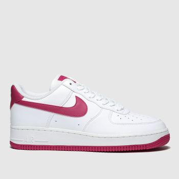 nike white & red air force 1 07 se trainers