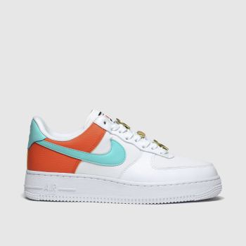 Nike Weiß-Hellblau Air Force 1 07 Se Damen Sneaker
