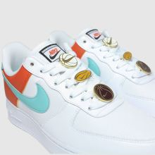 nike white & pl blue air force 1 07 se trainers