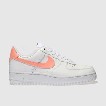 Nike White & Pink Air Force 1 07 Se Womens Trainers