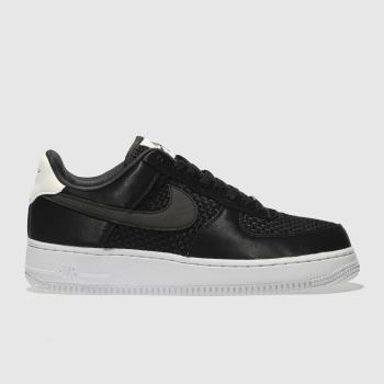 Nike Black & White AIR FORCE 1 07 SE Trainers