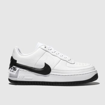 Nike White & Black Air Force 1 Jester Xx Womens Trainers