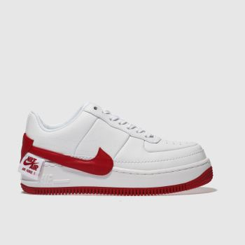 Nike White & Red Air Force 1 Jester Xx Womens Trainers