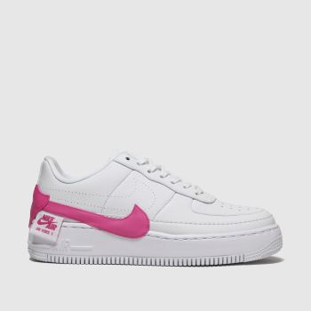 Nike White & Pink Air Force 1 Jester Xx Womens Trainers