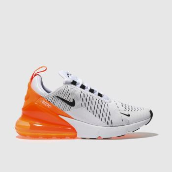NIKE WHITE & BLACK AIR MAX 270 TRAINERS
