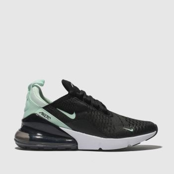 Nike Black & Green Air Max 270 Womens Trainers