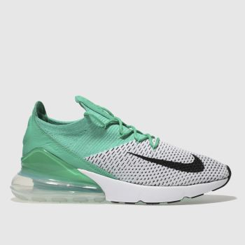 Nike Turquoise Air Max 270 Flyknit Womens Trainers