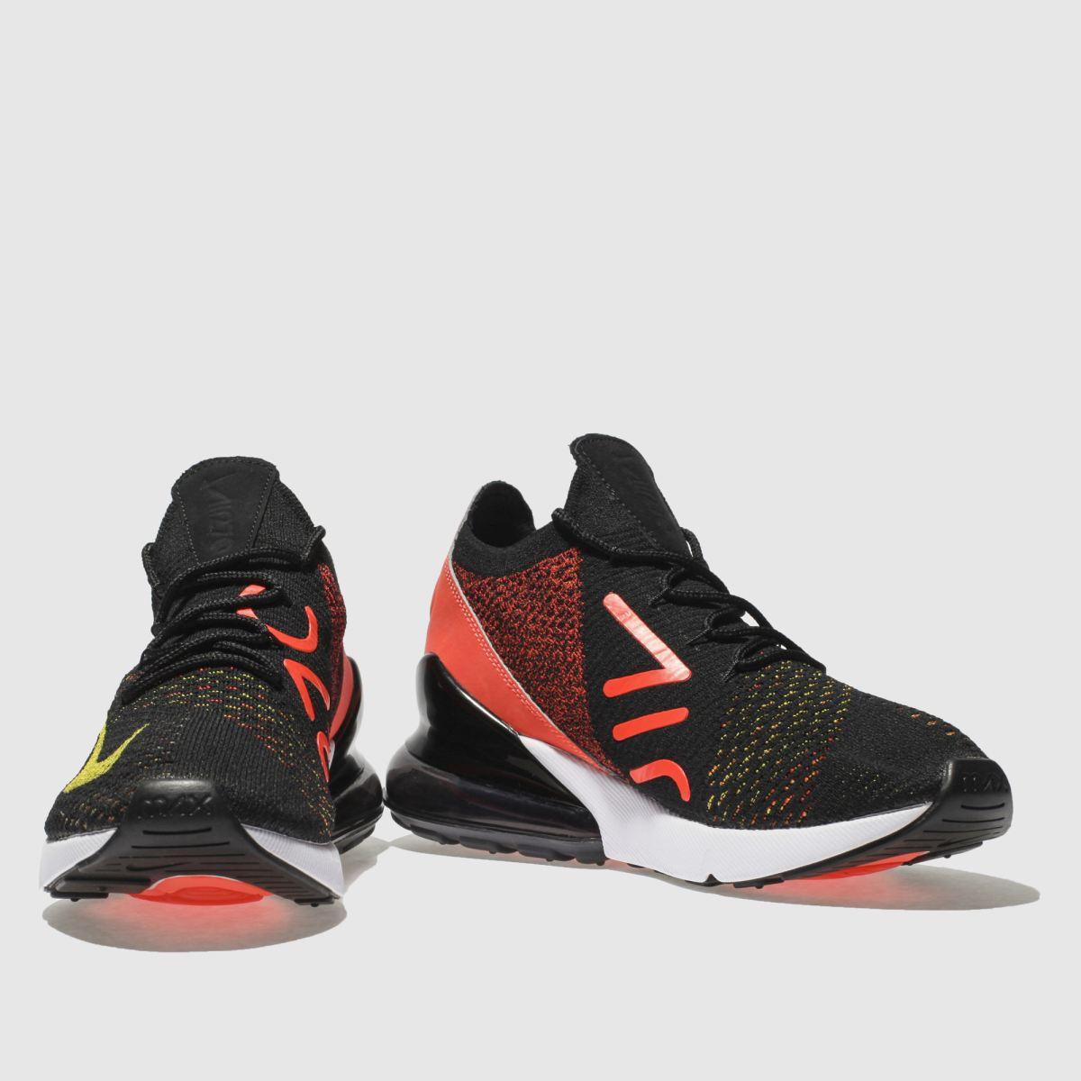 Damen Schwarz-pink nike Air Max 270 Flyknit Sneaker | schuh Gute Qualität beliebte Schuhe